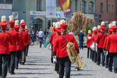 Regensburg, Niemcy, Mai 10, 2018, Maidult korowód w Regensburg, Niemcy zdjęcie royalty free
