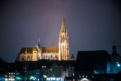 Regensburg Nightscape Royalty-vrije Stock Foto's