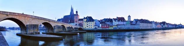 Regensburg Panorama Royalty Free Stock Photos
