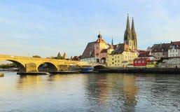 Regensburg panorama Royaltyfri Bild