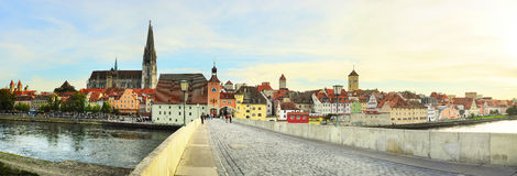 Regensburg panorama Royalty Free Stock Photography