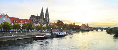 Regensburg skyline Royalty Free Stock Images