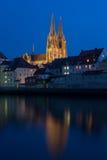 Regensburg at sundown Stock Photography