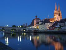 Regensburg. UNESCO world heritage Regensburg with the catholic cathedral St. Peter Royalty Free Stock Photography