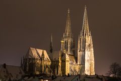 Regensburg in Winter Royalty Free Stock Image