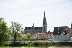 Regensburger-Kathedrale in Regensburg, kulturell lizenzfreie stockfotos
