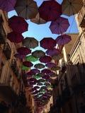 Regenschirm auf dem Himmel Stockfoto