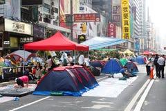 Regenschirm-Bewegung in Hong Kong Lizenzfreie Stockfotos