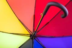 Regenschirm 8-color mit Griff lizenzfreie stockfotografie