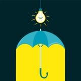 Regenschirm in einer Dunkelkammer stock abbildung