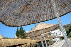 Regenschirm am Ferienzentrum Lizenzfreies Stockfoto