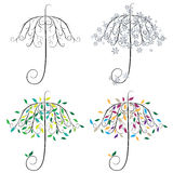 Regenschirm-Form-Baum Stockfotos