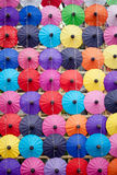 Regenschirm hergestellt vom Papier/vom Gewebe. Künste Stockbild