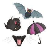 Regenschirm, Hieb, Merkmale und Kiefer Lizenzfreies Stockfoto