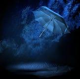 Regenschirm im Regen Stockfotografie