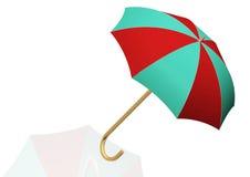 Regenschirm lokalisiert auf Weiß Stockfoto
