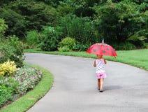 Regenschirm-Mädchen Stockbilder