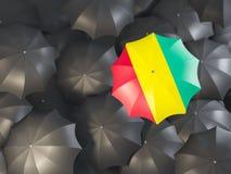 Regenschirm mit Flagge der Guine vektor abbildung