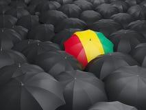 Regenschirm mit Flagge der Guine lizenzfreie abbildung