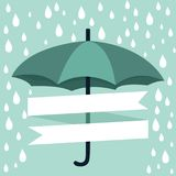 Regenschirm mit Regen Stockbilder