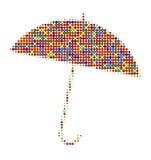Regenschirm mit vielen Farben Stockbilder