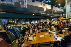 Regenschirm-Revolution in Hong Kong 2014 Stockfotografie