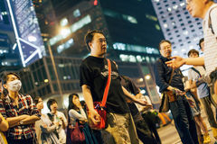Regenschirm-Revolution in Hong Kong 2014 Lizenzfreie Stockfotos