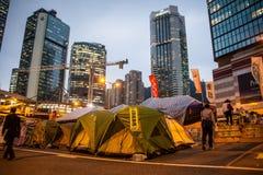 Regenschirm-Revolution in Hong Kong 2014 Stockfotos