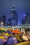 Regenschirm-Revolution in Hong Kong 2014 Stockbild