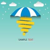 Regenschirm- und Regentropfen, abstraktes Wetterkonzept vektor abbildung