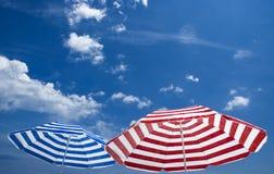 Regenschirm zwei Stockfoto