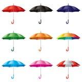Regenschirme in den verschiedenen Farben Lizenzfreie Stockfotos