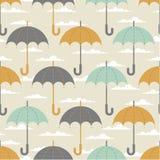 Regenschirme in den Wolken vektor abbildung