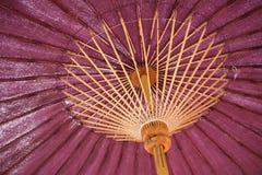 Regenschirme hergestellt vom Bambus Lizenzfreie Stockfotos