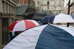 Regenschirme im Washington DC Lizenzfreies Stockfoto