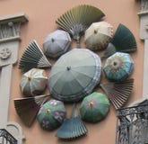 Regenschirmhaus Barcelona stockfotos