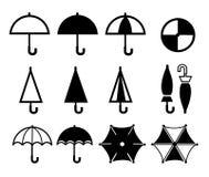 Regenschirmikone Lizenzfreie Stockbilder