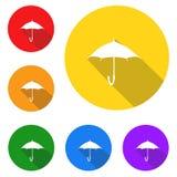 Regenschirmikone, Zeichen, beste Illustration 3D Stockfotografie