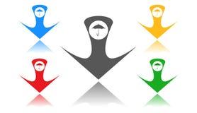 Regenschirmikone, Zeichen, 3D Illustration, beste Ikone Lizenzfreies Stockbild