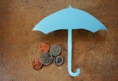 Regenschirmmünzen Stockbild