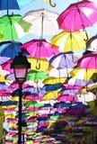 Regenschirmstraße Stockfotos