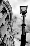 Regenskapbyggnader, Brighton radhus, victorianlampstolpe Arkivfoto