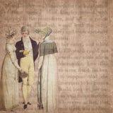 Regenskapera - Jane Austen Inspired - Digital pappers- bakgrund - stolthet & fördom vektor illustrationer