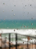 Regensturm aber zuhause Stockfotos