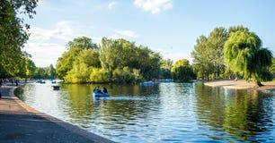 Regentpark, jezioro Fotografia Stock