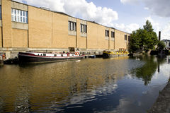 Regent canal boat in Camden Lock, London Royalty Free Stock Photo