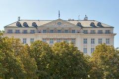 The Regent Esplanade Hotel in Zagreb, Croatia. Royalty Free Stock Image