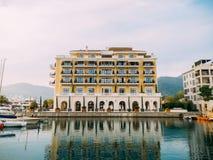 Regent Hotel, Teodo, Montenegro, Oporto Montenegro Fotografia Stock Libera da Diritti