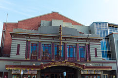 Regent Multiplex cinema in Ballarat, Australia. The Regent Multiplex cinema on Lydiard Street in central Ballarat, a large regional town in Australia, north-west Royalty Free Stock Photography