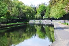 Regent's Canal in The Regent's Park, London Royalty Free Stock Photography